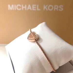 NWT authentic MK rosegold tone slider bracelet